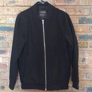 Boys black front zipper jacket